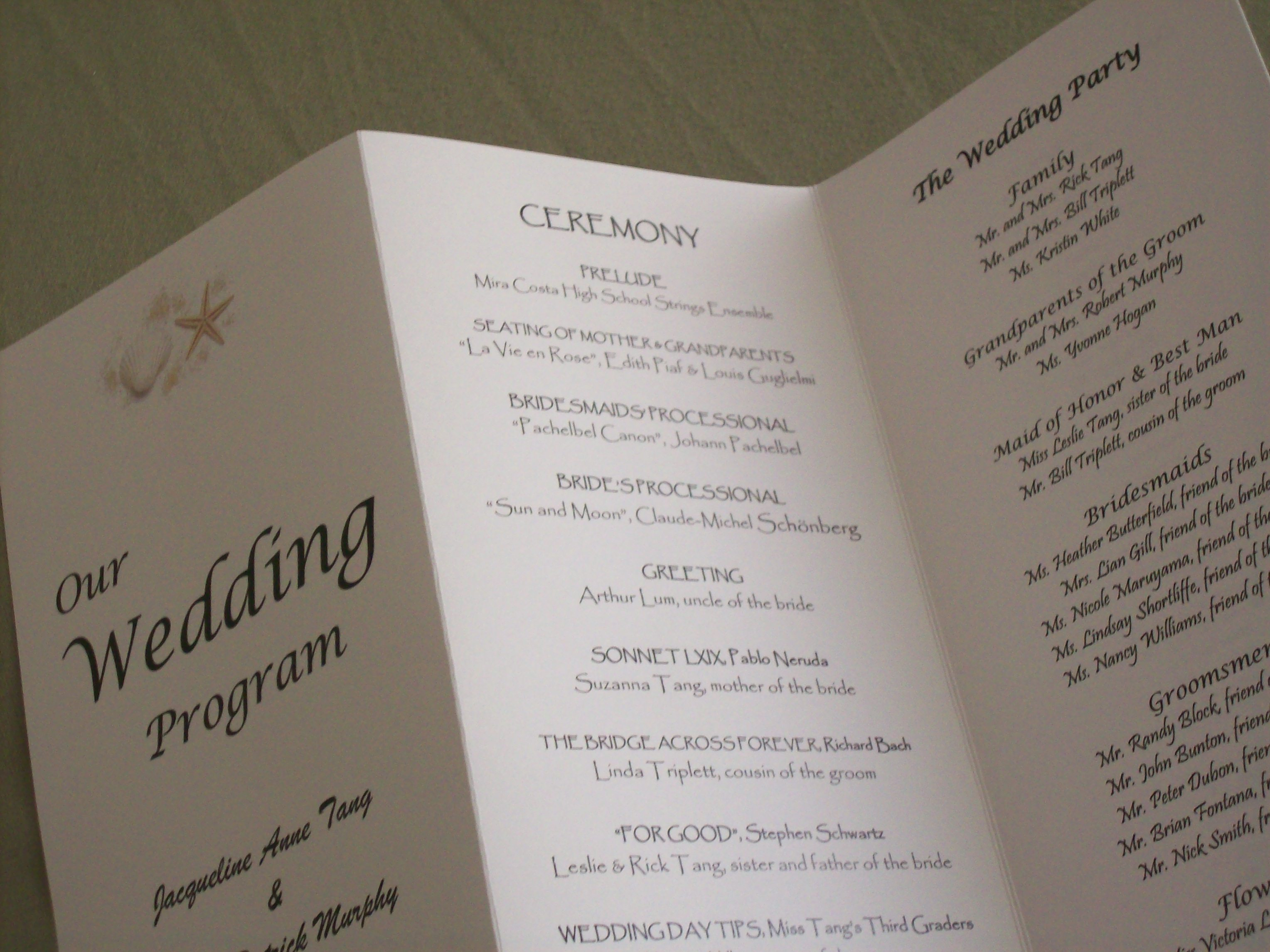Original wedding programs weddingswithinsight for Create a program online