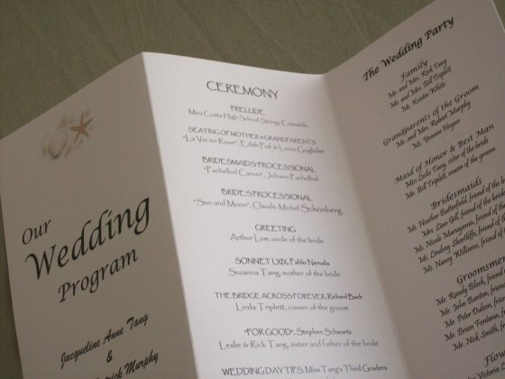 How To Create A Trifold Wedding Programs