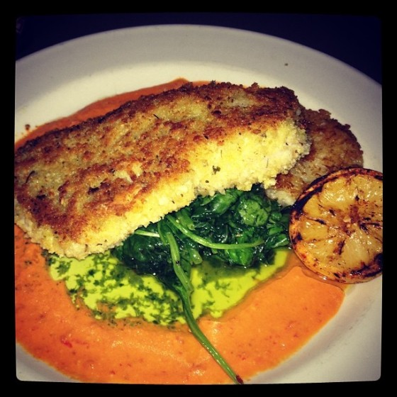 red snapper and risotto