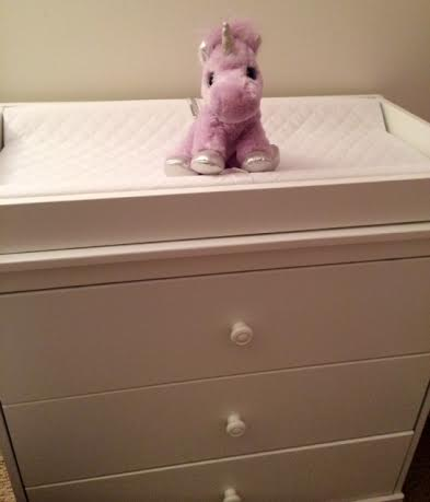 unicorn changing table