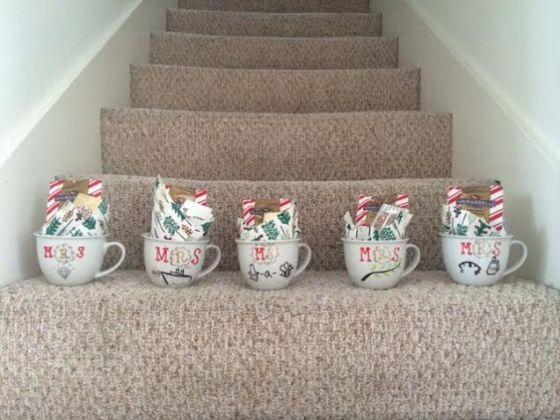 five mugs